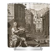Amphion Builds The Walls Of Thebes Shower Curtain