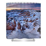 Amphitheater Sunrise Shower Curtain