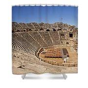 Amphitheatre In Side Turkey Shower Curtain