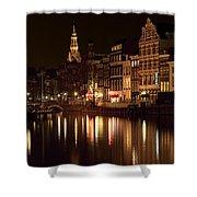 Amsterdam At Night Shower Curtain