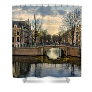 Amsterdam Bridges Shower Curtain