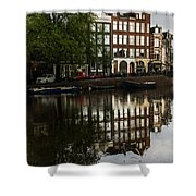 Amsterdam Canal Houses In The Rain Shower Curtain