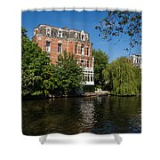 Amsterdam Canal Mansions - Floating By Shower Curtain