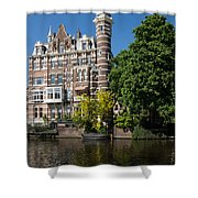 Amsterdam Canal Mansions - The Dainty Tower Shower Curtain