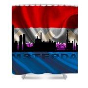 Amsterdam City Shower Curtain