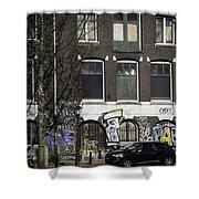 Amsterdam Graffiti Shower Curtain
