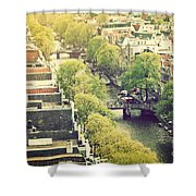 Amsterdam Holland Netherlands In Vintage Style Shower Curtain