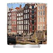 Amsterdam Houses Ar Sunset Shower Curtain
