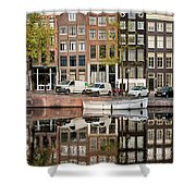 Amsterdam Houses By The Singel Canal Shower Curtain