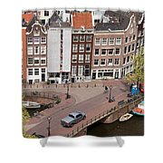 Amsterdam Houses From Above Shower Curtain