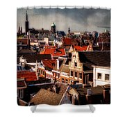 Amsterdam Roofs. View From Metz Cafe Shower Curtain