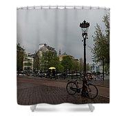 Amsterdam - The Yellow Umbrella Shower Curtain