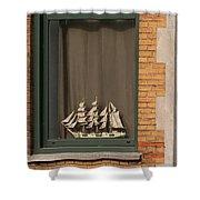 Amsterdam Window  #6 Shower Curtain