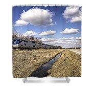 Amtrak 66  Shower Curtain