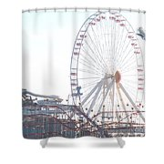 Amusement Rides At Wildwood Nj Shower Curtain