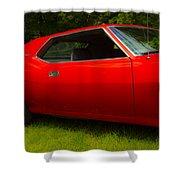 Amx Muscle Car Shower Curtain