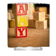 Amy - Alphabet Blocks Shower Curtain