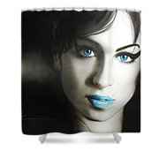 Amy 'n' Blues Shower Curtain