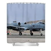 An A-10c Thunderbolt II Landing Shower Curtain