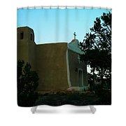 An Adobe Church In New Mexico Shower Curtain