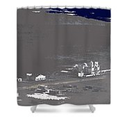 An Aerial View Of The San Xavier Mission No Date-2013  Shower Curtain