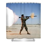 An Afghan National Army Soldier Fires Shower Curtain by Stocktrek Images