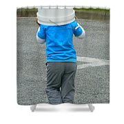 An Afternoon Of Fishing-no Luck Shower Curtain
