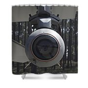 An Agm-65 Maverick Missile Mounted Shower Curtain