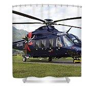 An Agustawestland Aw139 Utility Shower Curtain