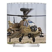 An Ah-64d Saraf Attack Helicopter Shower Curtain