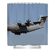 An Airbus Military A400m In Flight Shower Curtain