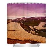 An Alpine Lake Near The Top Of Beartooth Pass  Shower Curtain