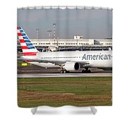 An American Airlines Boeing 767 Shower Curtain