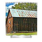 An American Barn 2 Oil Shower Curtain