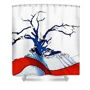 An American Tree Shower Curtain