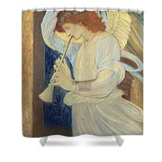An Angel Playing A Flageolet Shower Curtain