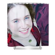 An Angel's Smile Shower Curtain