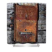 An Antique Mailbox Shower Curtain
