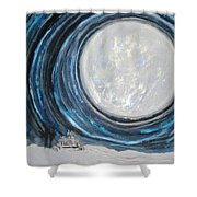 An Apparition Of The Moon  Shower Curtain