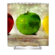 An Apple A Day With Will Ferrell Shower Curtain