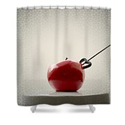 An Apple Shower Curtain