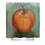 An Apple Shower Curtain
