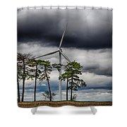 An April Sky Shower Curtain