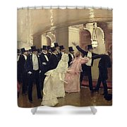An Argument In The Corridors Of The Opera Shower Curtain