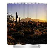 An Arizona Morning  Shower Curtain