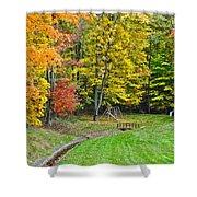 An Autumn Childhood Shower Curtain