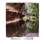 An Autumn Day In West Fork  Shower Curtain by Saija  Lehtonen
