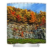 An Autumn Day Painted Shower Curtain