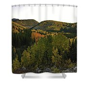 An Avalanche Of Color Shower Curtain