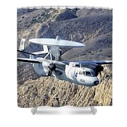 An E-2c Hawkeye Aircraft Flies Shower Curtain